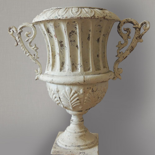 Distressed Metal Urn Image