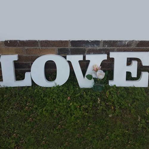 L-O-V-E Laser-Cut Letters Image